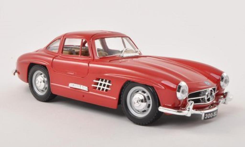 Mercedes 300 SL 1/24 Burago SL (W198) rouge 1954 miniature