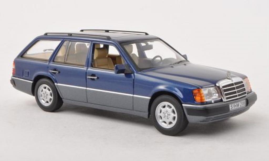 Mercedes 300 TE 1/43 Minichamps (S124) bleu/grise 1988 miniature