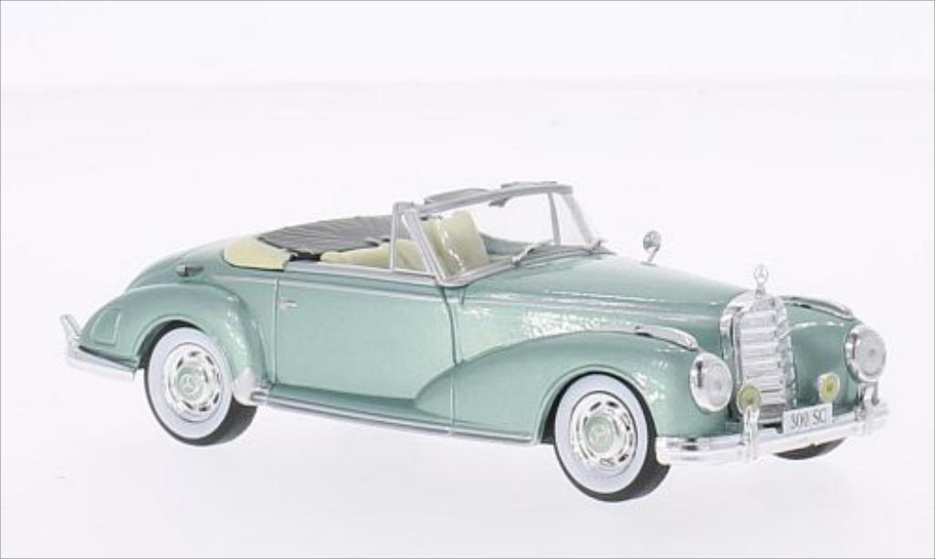 Mercedes 300 1/43 WhiteBox (W186) SC Roadster metallic-green 1956 diecast