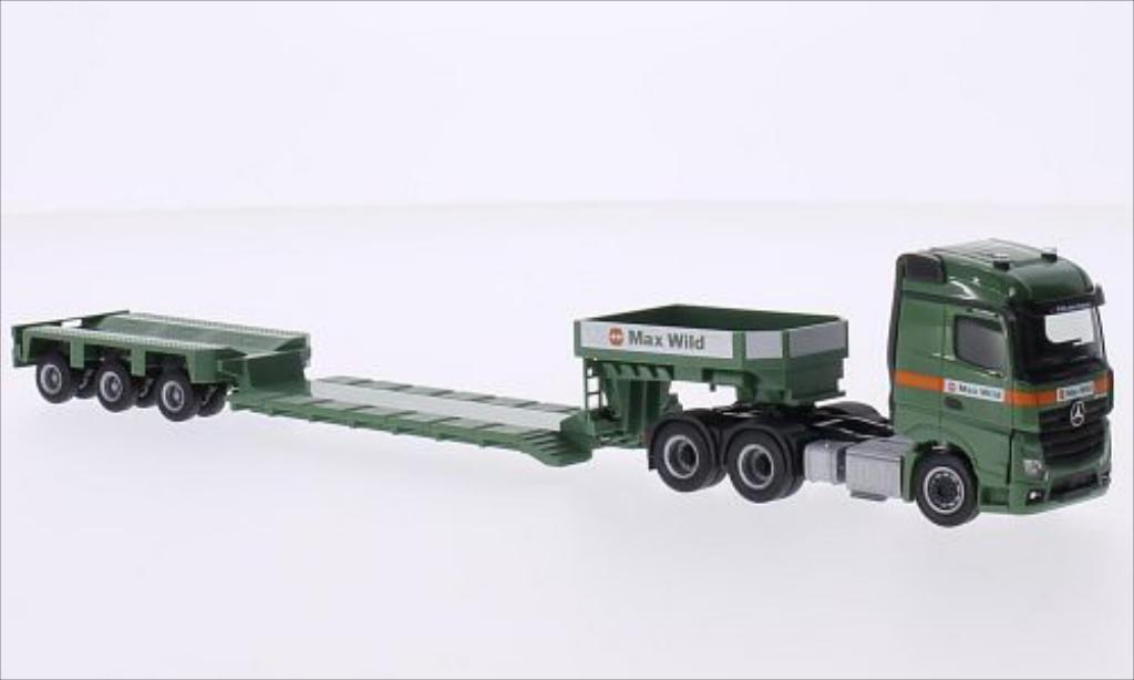 Mercedes Actros 1/87 Herpa 11 6x4 Streamspace 2.5 Max Wild miniature