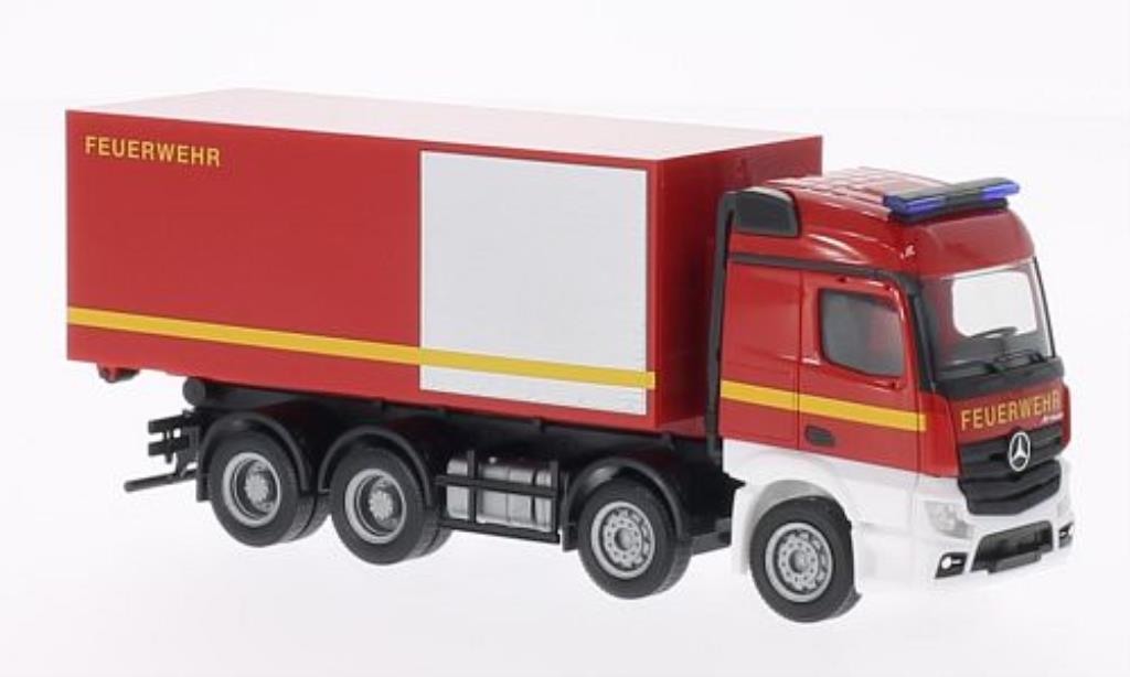 Mercedes Actros 1/87 Herpa 11 Feuerwehr Abrollcontainer-LKW miniature