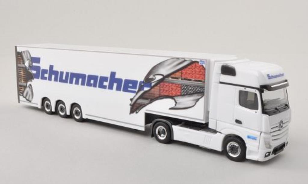 Mercedes Actros 1/87 Herpa 11 Schumacher Gigaspace-Doppelstock-SZ miniature