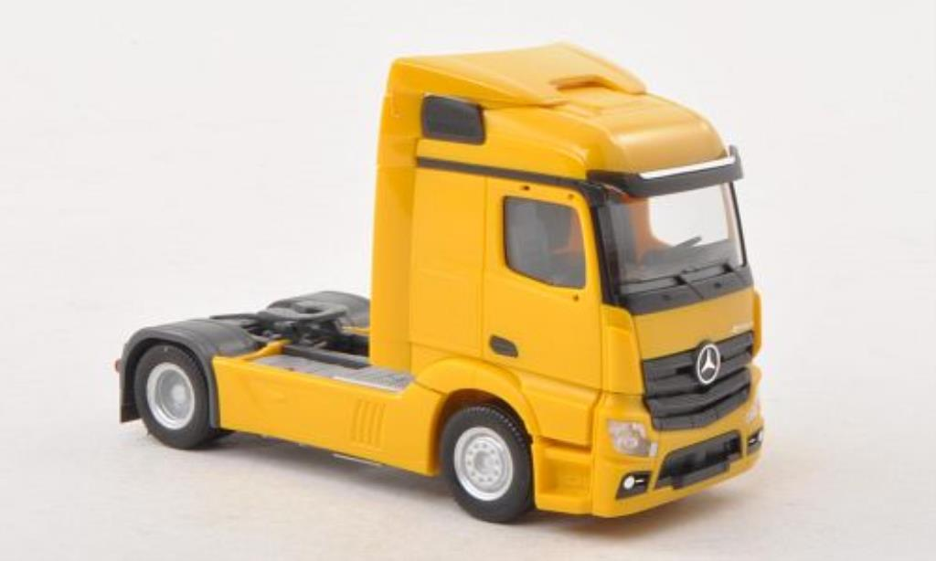 Mercedes Actros 1/87 Herpa 11 Streamspace jaune Zugmaschine miniature