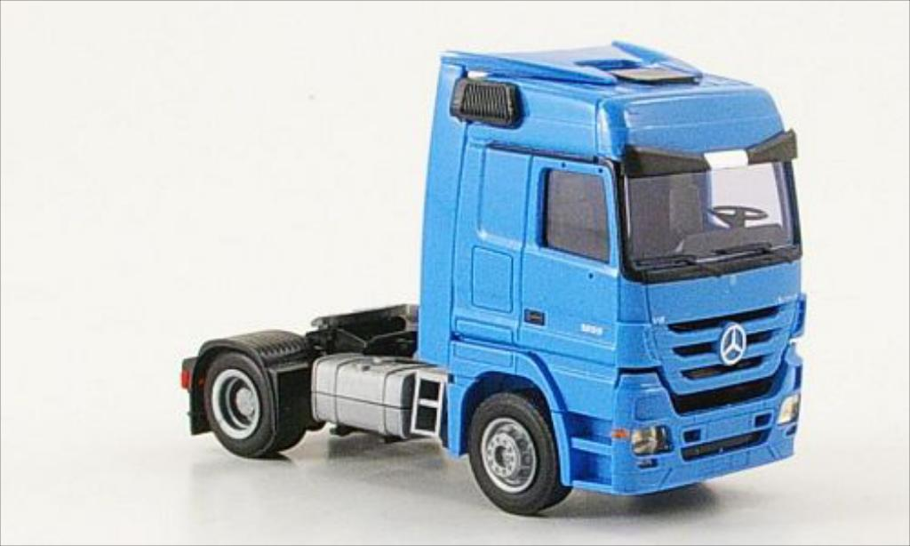Mercedes Actros 1/87 AWM 1855 MP3 2-Achser Aerop. bleu diecast model cars