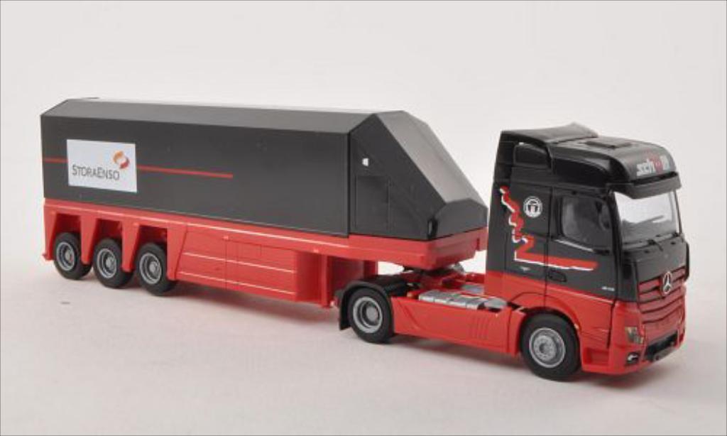 Mercedes Actros 1/87 AWM 2 Bigspace/Aerop. Schmitt/StoraEnso Innenlader-SZ miniature