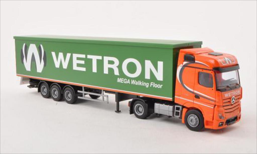Mercedes Actros 1/87 AWM 2 Bigspace/Aerop. Wetron Schubb.-SZ miniature