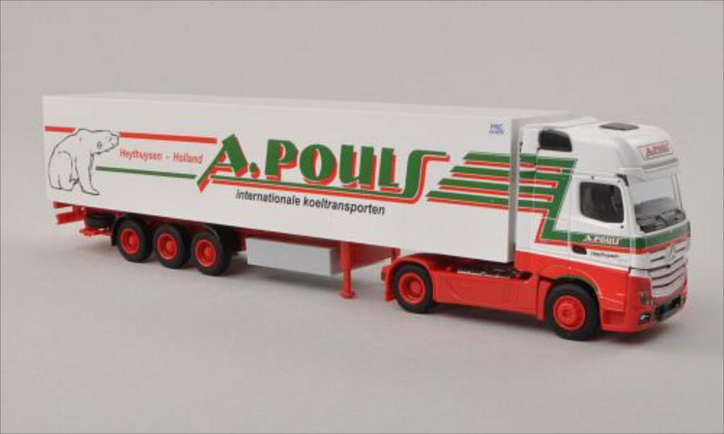 Mercedes Actros 1/87 AWM 2 Gigaspace A.Pouls (NL) Kuhlkoffer-SZ miniature