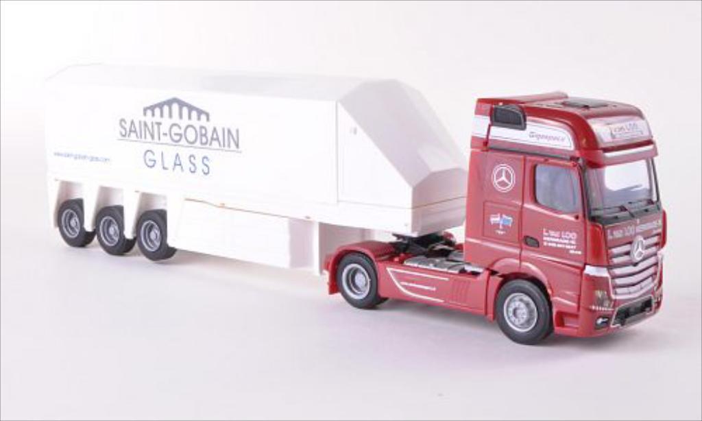 Mercedes Actros 1/87 AWM 2 Gigaspace Van Loo (NL) / Saint-Gobain Innenlader-SZ miniature