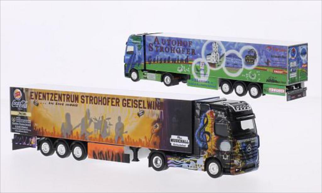 Mercedes Actros 1/87 Herpa Autohof Strohofer / Wolf Transporte miniature