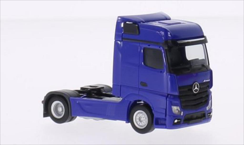 Mercedes Actros 1/87 Herpa Bigspace bleu miniature