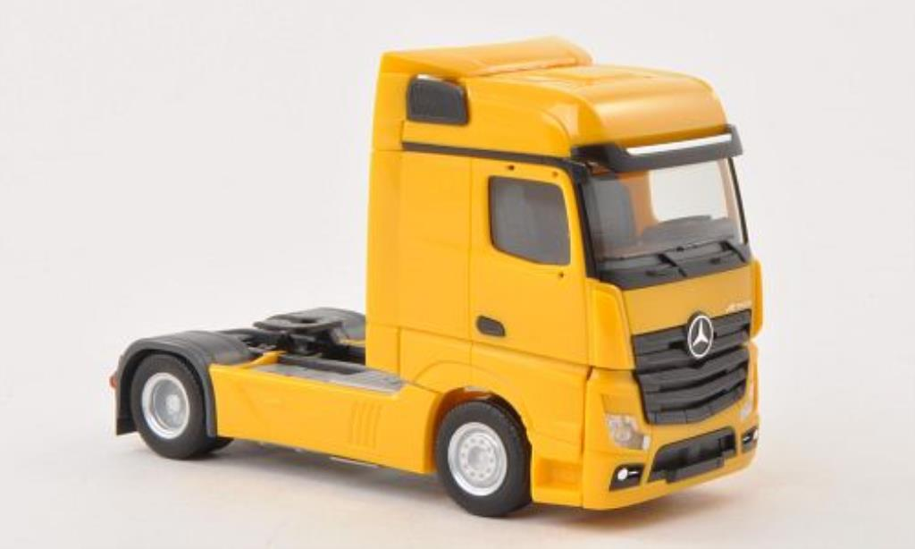 Mercedes Actros 1/87 Herpa Bigspace jaune Solo-Zugmaschine miniature