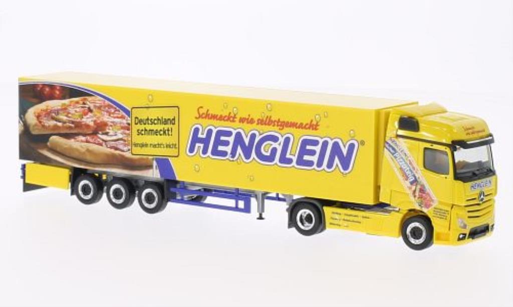Mercedes Actros 1/87 Herpa Bigspace Henglein Pizzateig Kuhlkoffer-SZ miniature