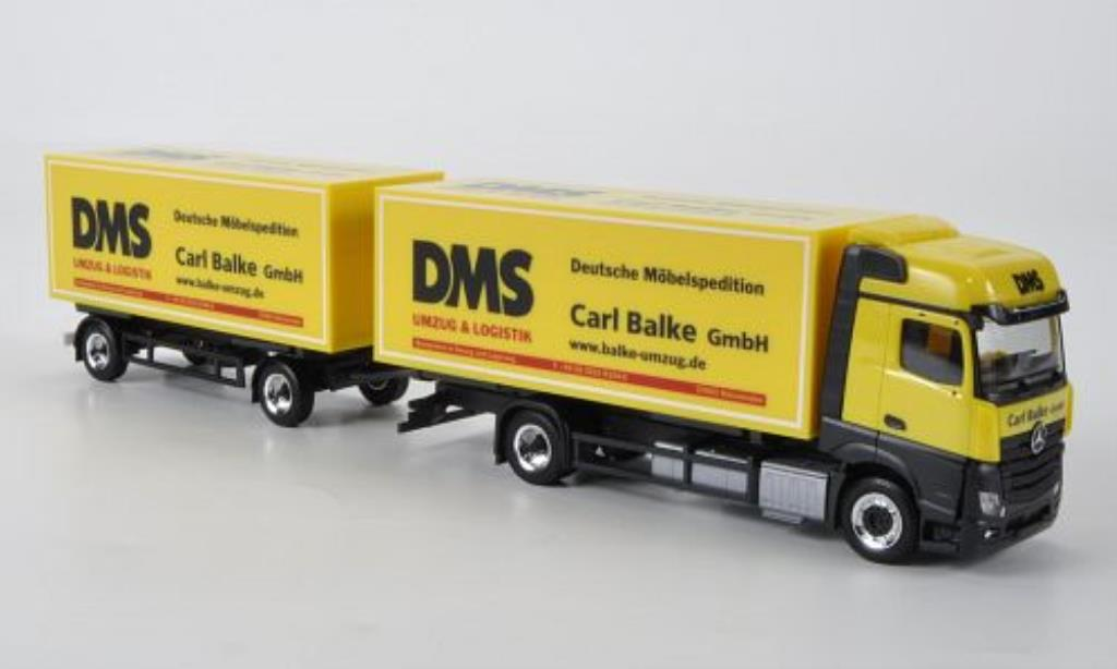 Mercedes Actros 1/87 Herpa DMS - Carl Balke Bigspace Wechselkoffer-HZ 2011 miniature