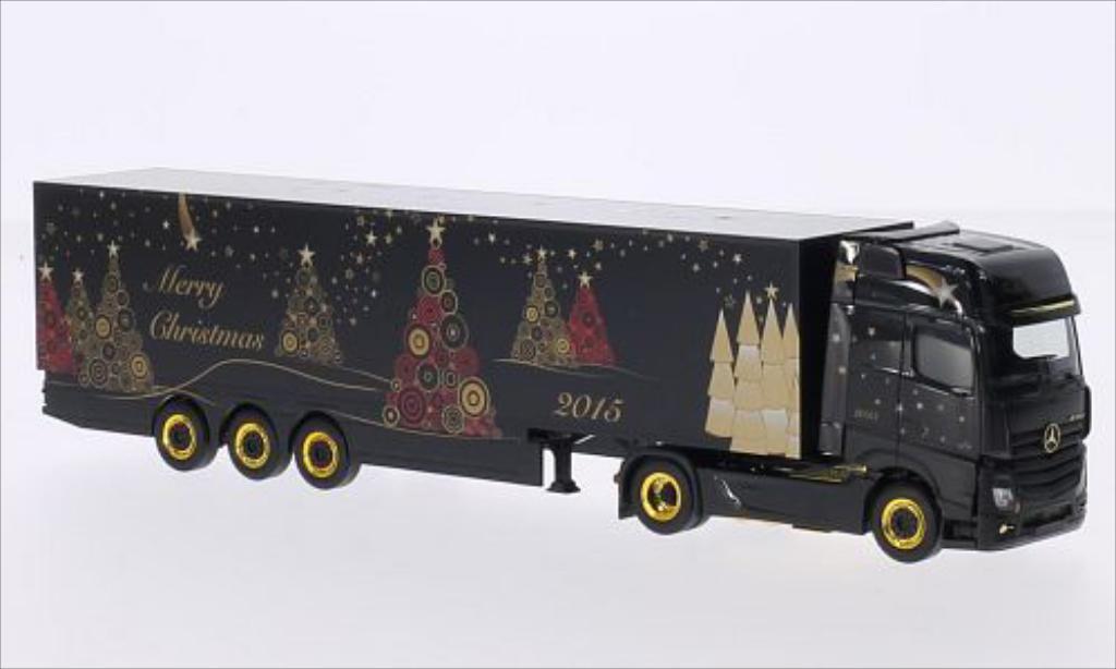 Mercedes Actros 1/87 Herpa Gigaspace Frohe Weihnachten miniature