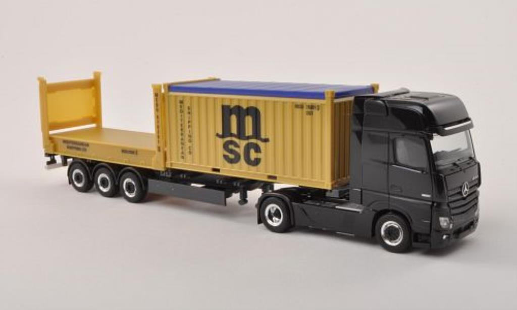 Mercedes Actros 1/87 Herpa Gigaspace MSC Container-SZ 2011 diecast model cars