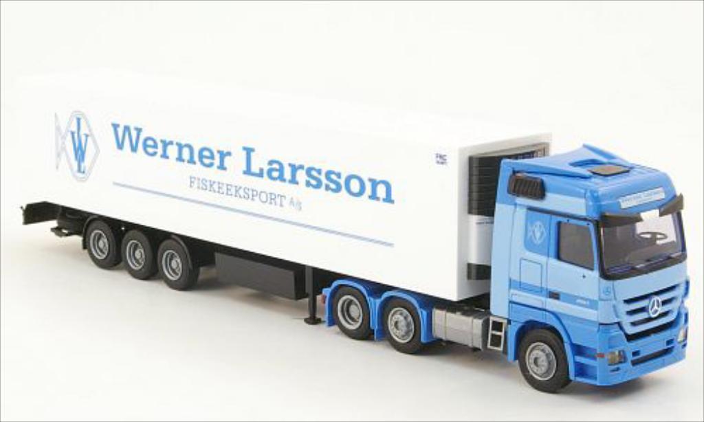 Mercedes Actros 1/87 AWM MP 3 LH Aerop. Kuhl-KSZ Werner Larsson diecast