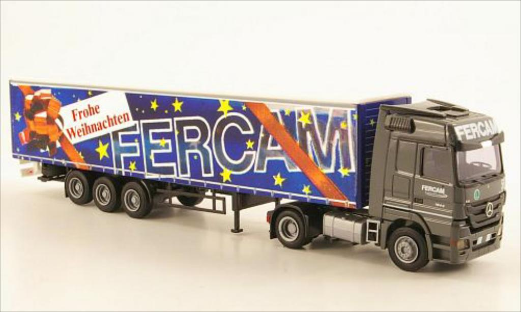 Mercedes Actros 1/87 AWM MP3 LH/Aerop. FERCAM/Buon Natale G-KSZ diecast