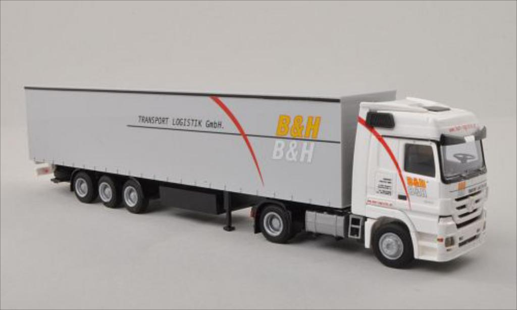 Mercedes Actros 1/87 AWM MP3 LH B & H Transport Logistik GmbH miniature
