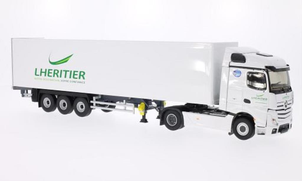 Mercedes Actros 1/43 Eligor MP4 Steamspace Transports Lheritier Koffer-SZ coche miniatura