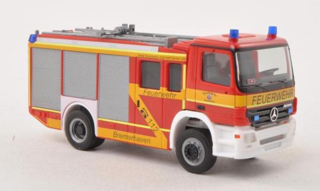 Mercedes Actros 1/87 Herpa S HLF 2000 Feuerwehr Bremerhaven 2002 diecast