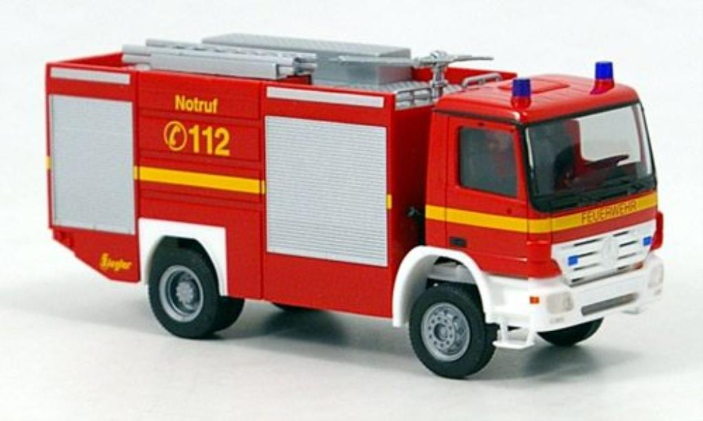 Mercedes Actros 1/87 Herpa S TLF 24/60 Feuerwehr 2002 miniature