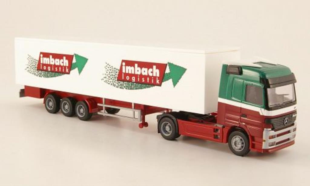 Mercedes Actros 1/87 Rietze Sattelzug Imbach Logistik - Schachen diecast
