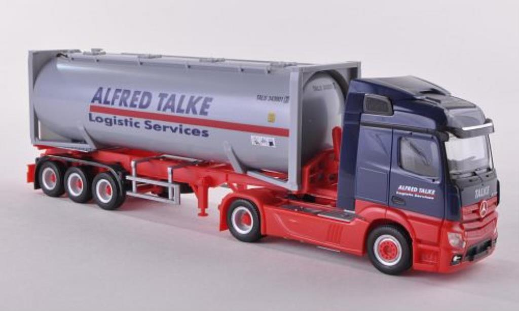 Mercedes Actros 1/87 Herpa Streamspace 2.3 A.Talke Drucksilocontainer-SZ 30ft. 2011 miniature