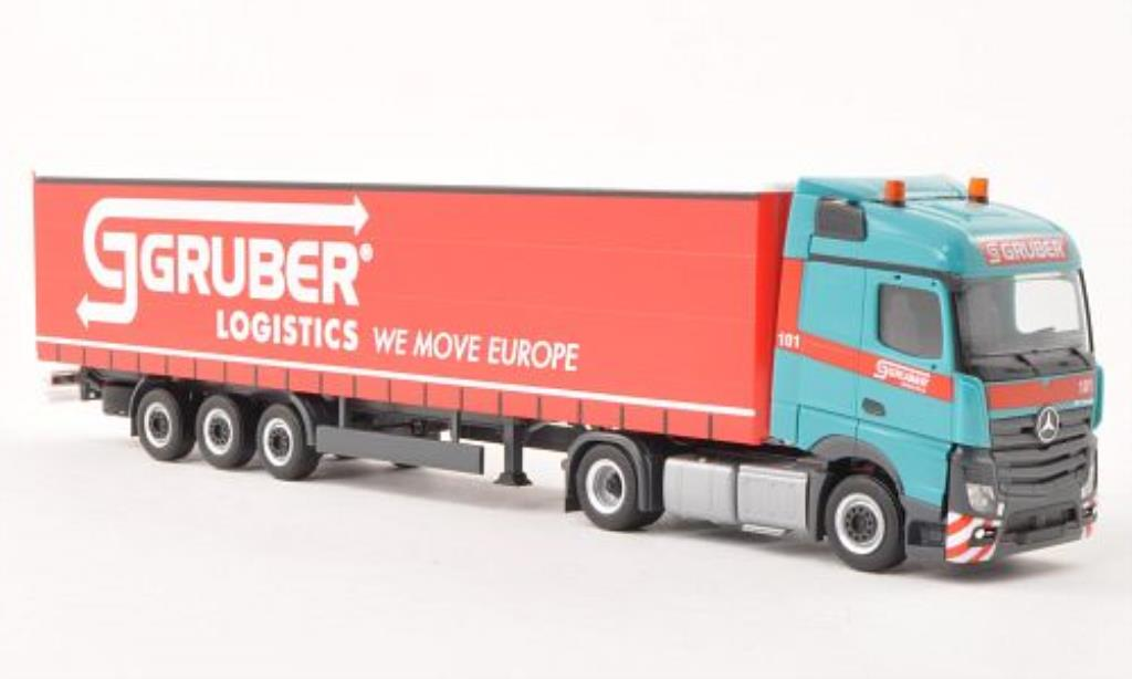 Mercedes Actros 1/87 Herpa Streamspace 2.5 Lowliner-SZ Gruber (I) miniature