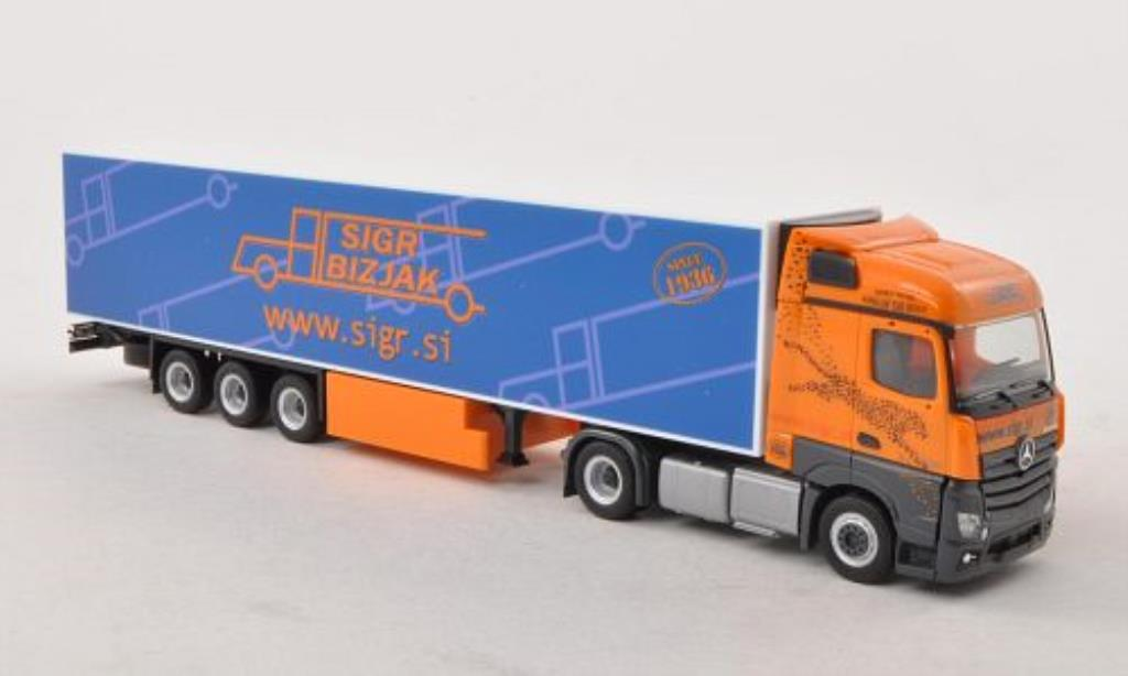 Mercedes Actros 1/87 Herpa Streamspace Sigr Bizjak (SI) Kuhlkoffer-SZ miniature