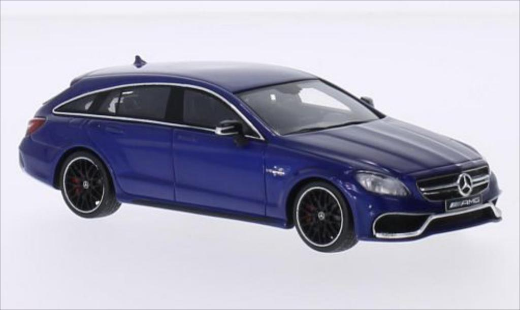 Mercedes Classe CLS 1/43 Spark 63 AMG Shooting Brake metallic-bleu 2014 miniature