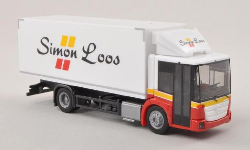 Mercedes Econic 1/87 Herpa 13 Simon Loos (NL) Kuhlkoffer-LKW miniature