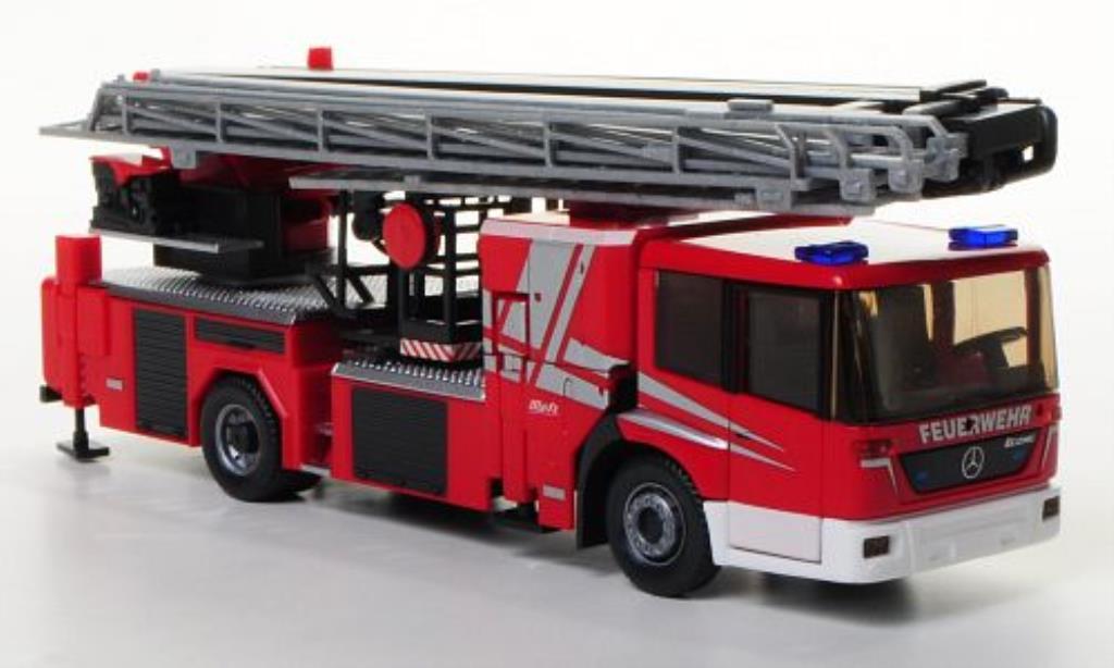 Mercedes Econic 1/87 Wiking mit Metz B32 Hubrettungsbuhne Feuerwehr diecast