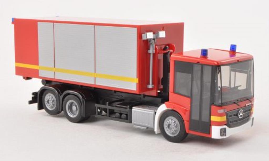 Mercedes Econic 1/87 Herpa Wechsellader-LKW Feuerwehr miniature
