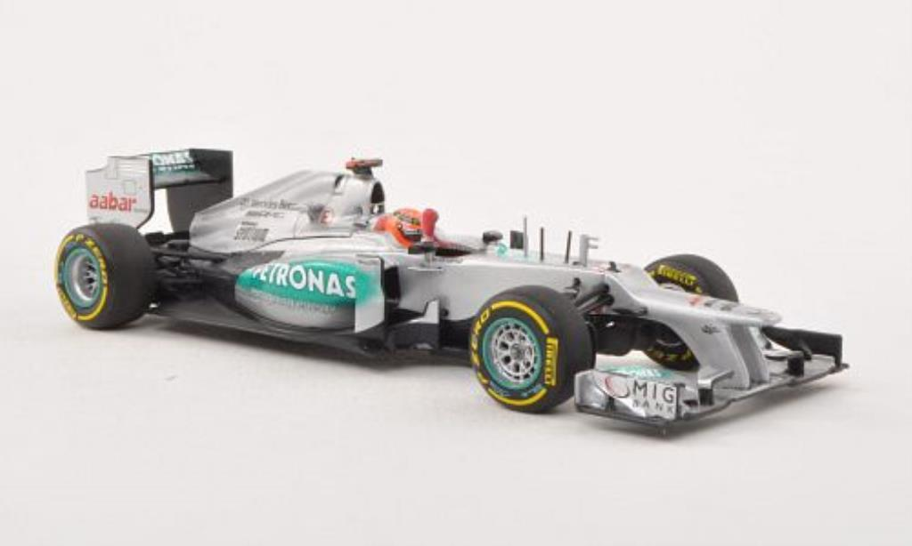 Mercedes F1 1/43 Minichamps W03 No.7 Petronas GP Valencia 2012 diecast model cars