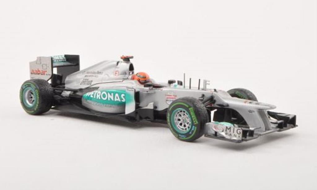 Mercedes F1 1/43 Minichamps W03 No.7 Petronas Last Race GP Brasilien 2012 miniature