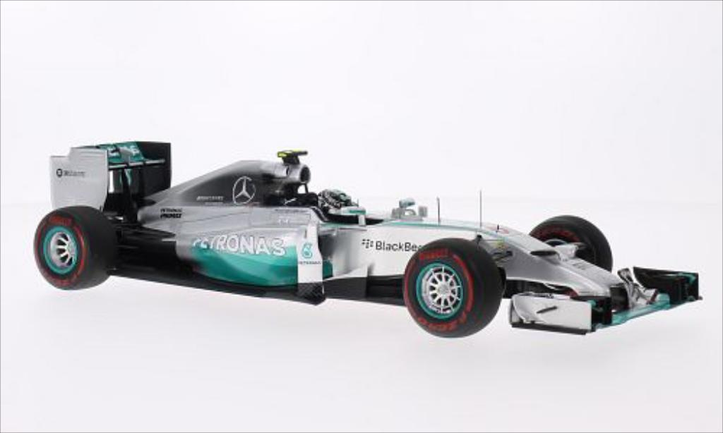 Mercedes F1 1/18 Spark W05 Hybrid No.6 AMG Formel 1 Team Petronas Formel 1 GP Monaco 2014 miniature