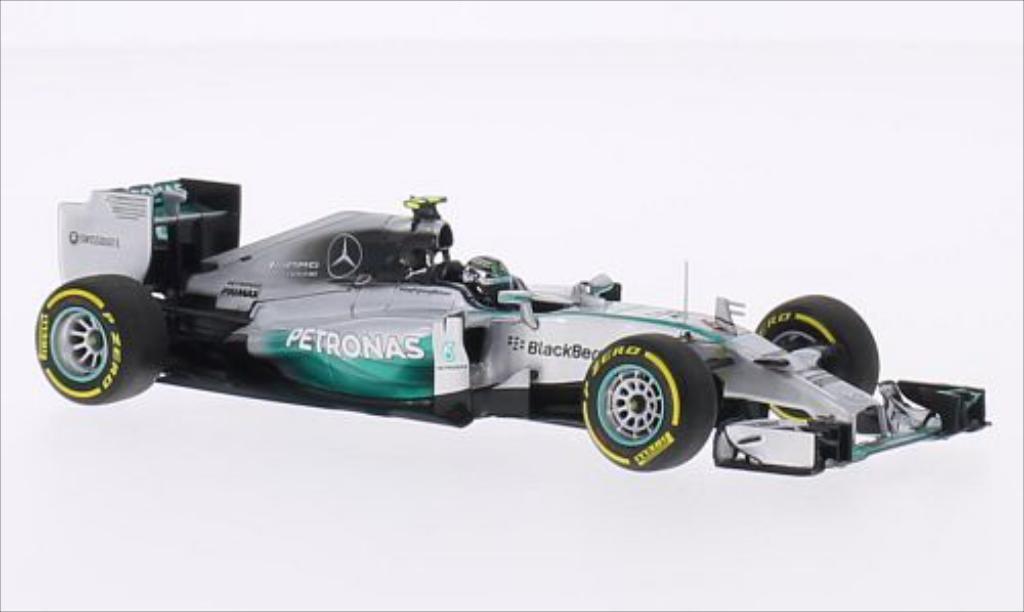Mercedes F1 1/43 Minichamps W05 Hybrid No.6 Mercedes AMG Petronas F1 Team Petronas Formel 1 GP Abu Dhabi 2014 miniatura