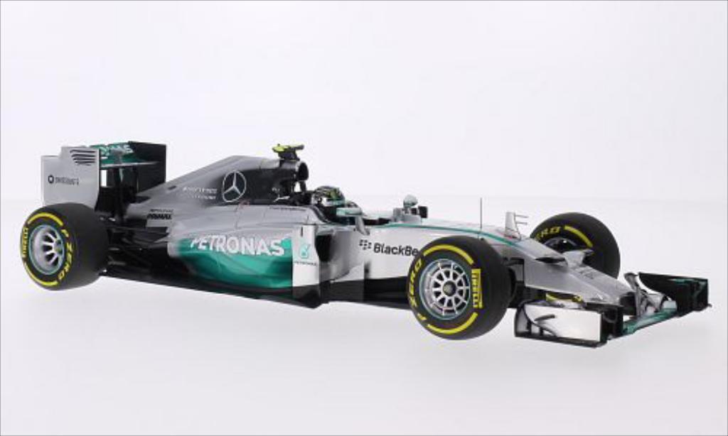 Mercedes F1 1/18 Minichamps W05 Hybrid No.6 AMG Petronas Team Petronas GP Abu Dhabi 2014 miniature
