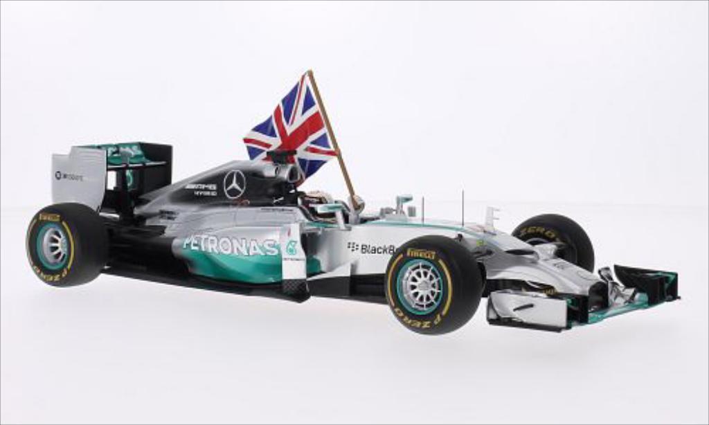 Mercedes F1 1/18 Spark W05 No.44 Formel 1 GP Abu Dhabi 2014 miniature