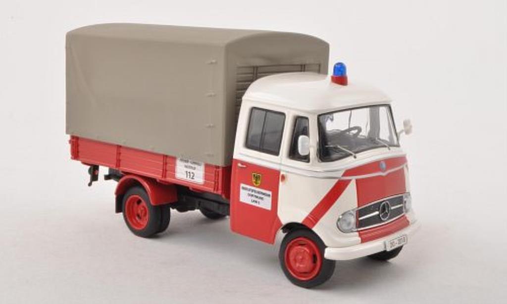 Mercedes L319 1/43 Schuco Pritsche/Plane Feuerwehr Dortmund miniature
