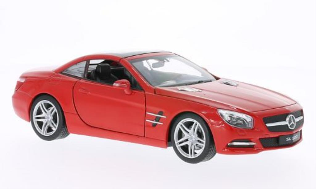 Mercedes Classe SL 500 1/24 Welly (R231) Hard Top rouge 2012 miniature