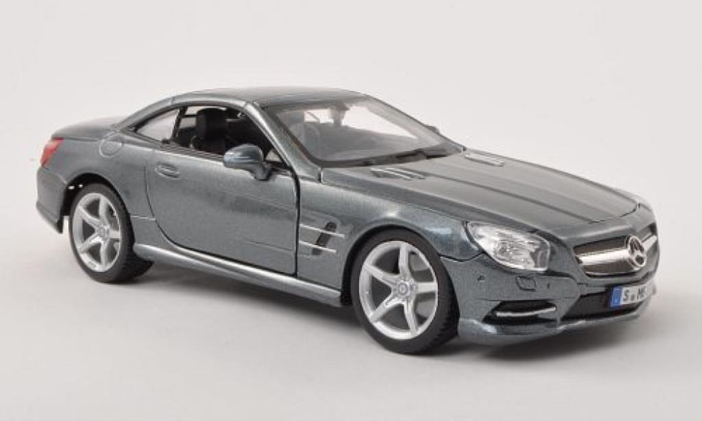 Mercedes Classe SL 500 1/24 Burago 500 (R231) grise Verdeck geschlossen miniature
