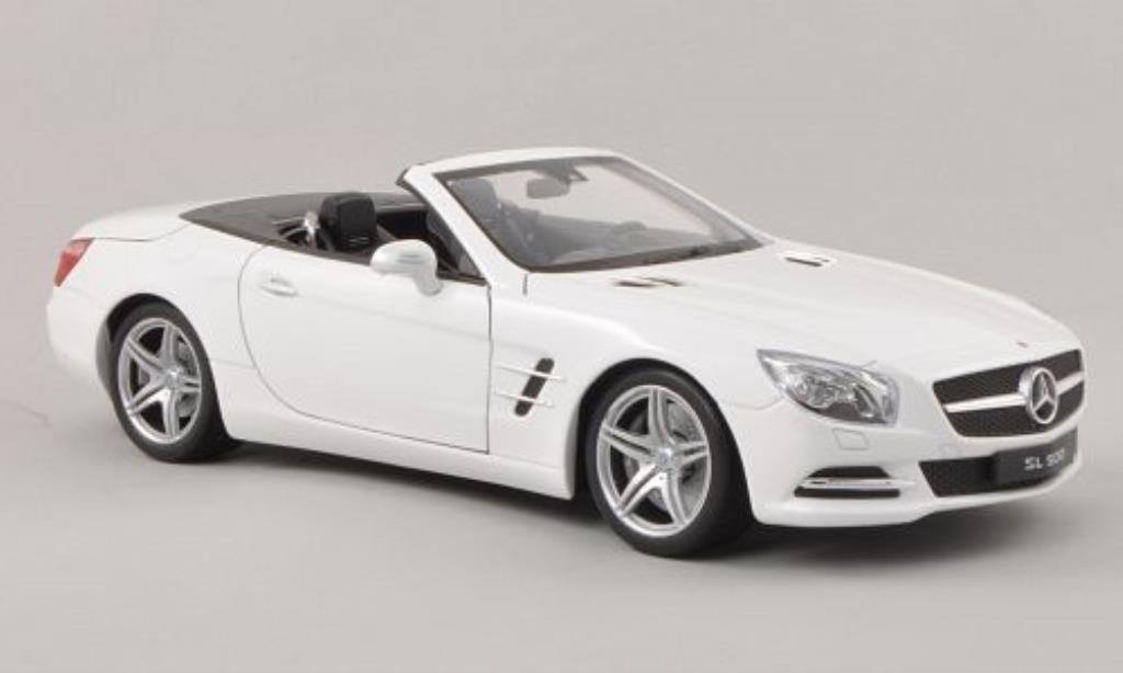 Mercedes Classe SL 500 1/18 Welly (R231) blanche Verdeck geoffnet 2012 miniature