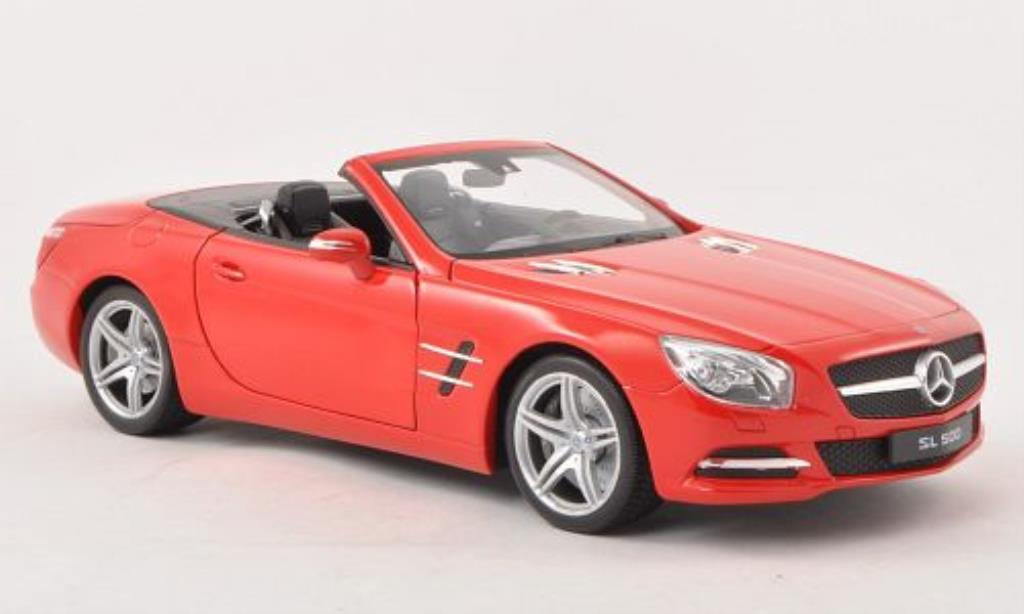 Mercedes Classe SL 500 1/18 Welly 500 (R231) rouge Verdeck geoffnet 2012 miniature