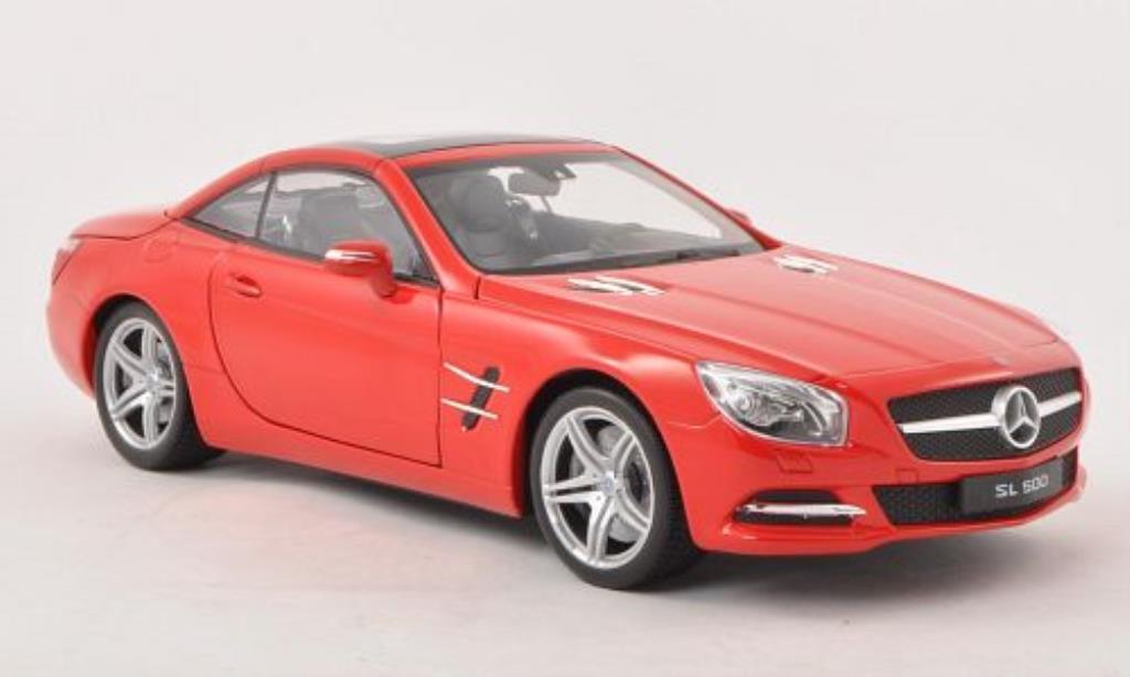 Mercedes Classe SL 500 1/18 Welly 500 (R231) rouge Verdeck geschlossen 2012 miniature