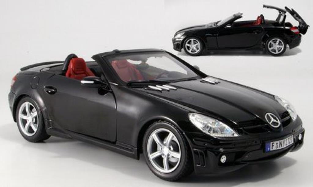 Mercedes Classe SLK 1/18 Motormax 55 AMG (R171) noire miniature