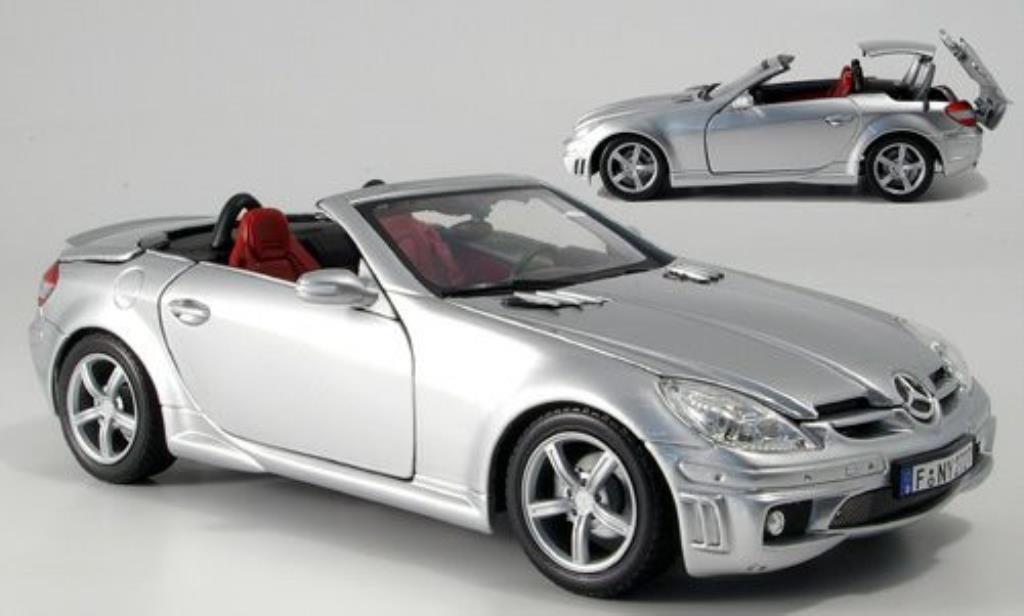 Mercedes Classe SLK 1/18 Motormax 55 AMG (R171) grise miniature