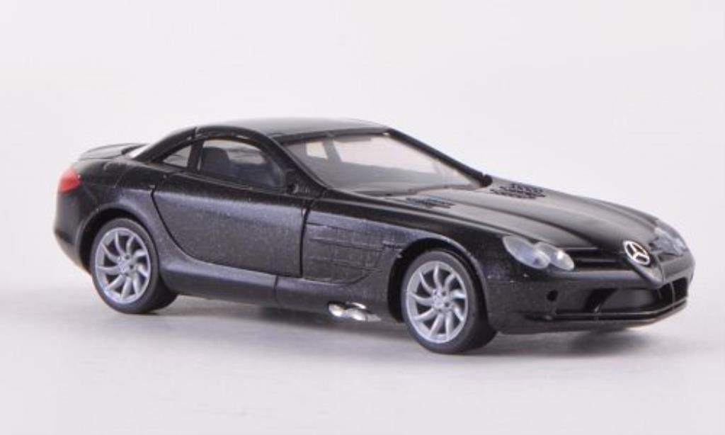 Mercedes SLR 1/87 Herpa McLaren nero innen grigia 2004 miniatura