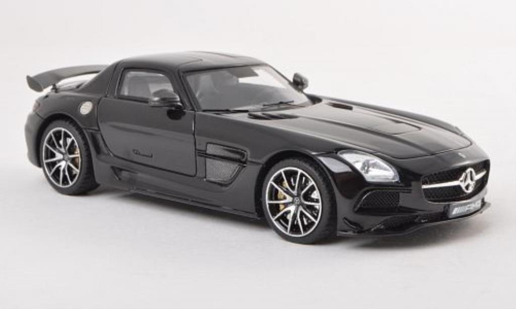 Mercedes SLS 1/43 Minichamps AMG Black Series (C197) noire 2013 miniature