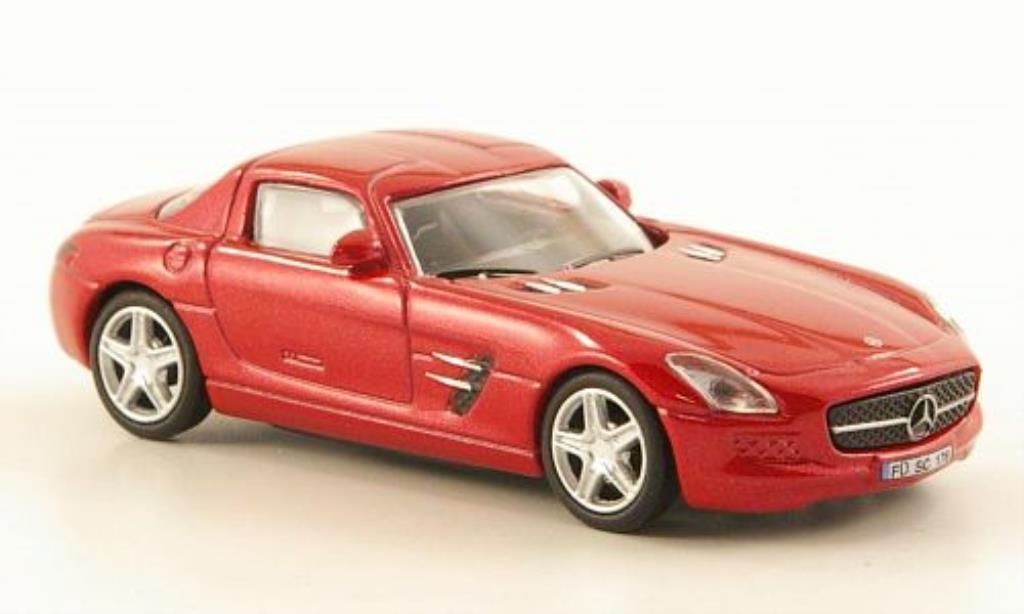Mercedes SLS 1/87 Schuco AMG (C197) rouge